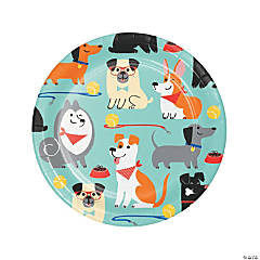 Dog Party Dessert Plates - 8 Ct.
