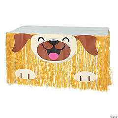 Dog Party Fringe Table Skirt