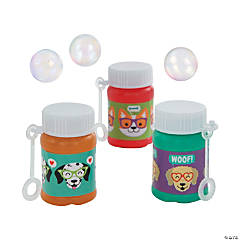 Dog Party Mini Bubble Bottles