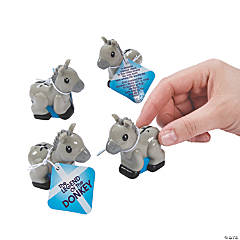 Donkey Pull-Back Toys with Card