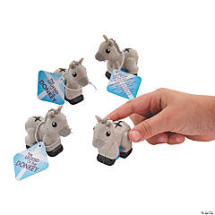 Donkey Pullback Racers with Cards