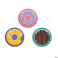 Donut Party Paper Dessert Plates - 8 Ct.