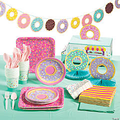 Donut Party Tableware Kit for 16 Guests