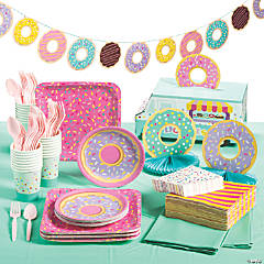 Donut Party Tableware Kit for 24 Guests