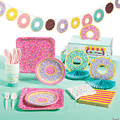 Donut Party Tableware Kit for 8