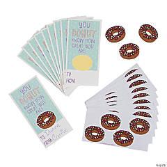 Donut Scented Sticker Valentine's Day Cards
