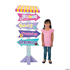 Donut Sprinkles Directional Sign