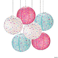 Donut Sprinkles Hanging Paper Lanterns
