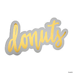Donuts Sign with Easel