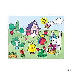 Doodle Animal Easter Sticker Scenes
