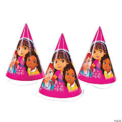 Dora & Friends Cone Party Hats