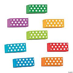Dots Beveled Erasers - 24 Pc.
