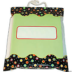 "Dots on Black Storage Bags, 10 ½"" x 12 ½"", 6 per pack, 3 packs"