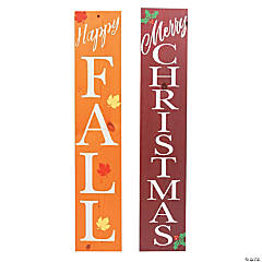 Double-Sided Fall & Christmas Sign