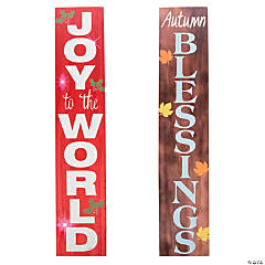 Double-Sided Religious Fall & Winter Sign