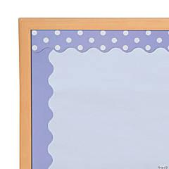 Double-Sided Solid & Polka Dot Bulletin Board Borders - Light Purple