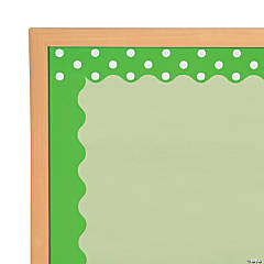 Double-Sided Solid & Polka Dot Bulletin Board Borders - Lime Green