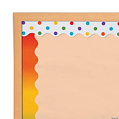 Double-Sided Solid & Polka Dot Bulletin Board Borders - Rainbow