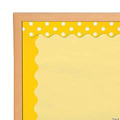 double sided solid polka dot bulletin board borders yellow