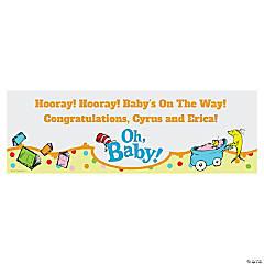 Dr. Seuss™ Baby Shower Custom Banner - Medium