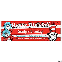 Dr. Seuss™ Birthday Custom Banner - Small