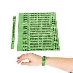 Drinking Age Verified Self-Adhesive Wristbands