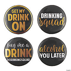 Drinking Squad Buttons