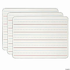 Dry Erase Board, Two Sided Magnetic, Plain/Lined, Pack of 3