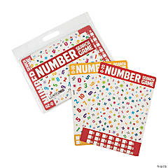 Dry Erase Number Search Double-Sided Game Cards