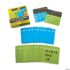 Dry Erase Order of Operations Card Set
