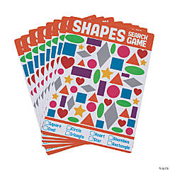 Dry Erase Shapes Search Game