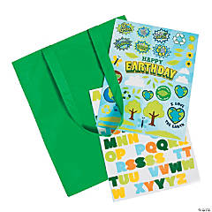 Earth Day Laminated Large Tote Bag Craft Kit