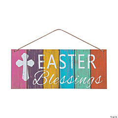 Easter Blessings Wall Sign