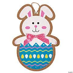 Easter Bunny Burlap Sign