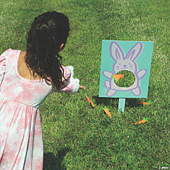 Easter Bunny Carrot Toss Game