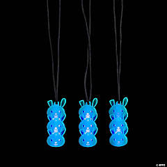 Easter Bunny Character Necklaces with Glow Stick