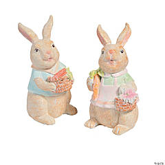 Easter Bunny Couple Tabletop Decoration