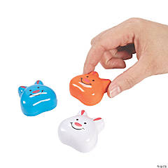 Easter Bunny Face Pull-Back Toys