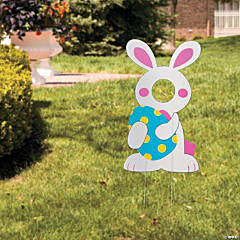 Easter Bunny Face Yard Sign