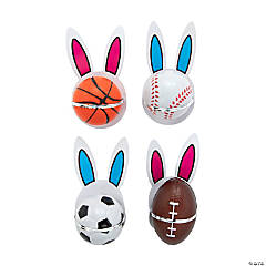 Easter Bunny Sport Stress Ball with Card Kit