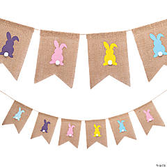 Easter Burlap Bunny Tail Garland