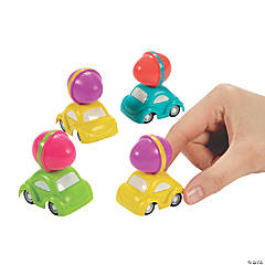 Easter Car with Egg Topper Pull-Back Toys