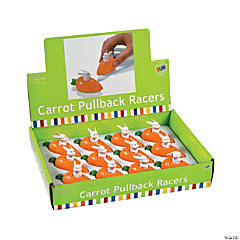 Easter Carrot Pull-Back Toys