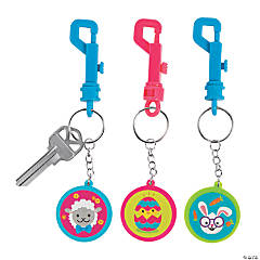 Easter Character Backpack Clip Keychains