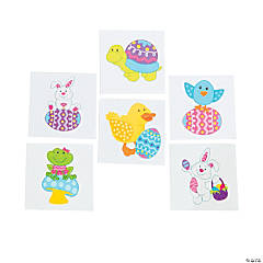 Easter Character Tattoos Clip Strip