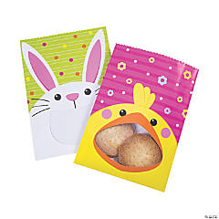 Easter Chick & Bunny Treat Bags with Window