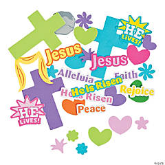 Easter Cross with Verse Shapes