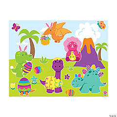 Easter Dinosaur Sticker Scenes