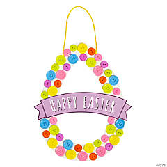 Easter Egg Button Wreath Craft Kit