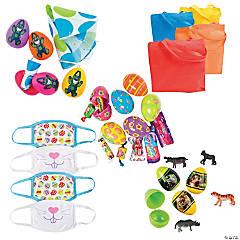 Easter Egg Hunt Kit for 12 with Kid's Face Masks